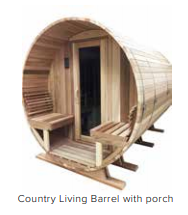 Exterior Porch w/ Bench Seating - For Saunacore Saunas