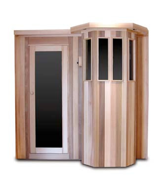 Image of Saunacore Traditional Bay Model Series 9 Person Traditional Sauna (B7X10)