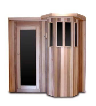 Image of Saunacore Traditional Bay Model Series 7 Person Traditional Sauna (B5X7)
