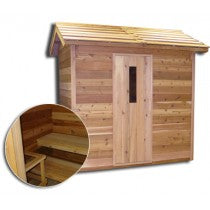 Image of Saunacore Outdoor Classic 5 Person Traditional Sauna (COD6X6)
