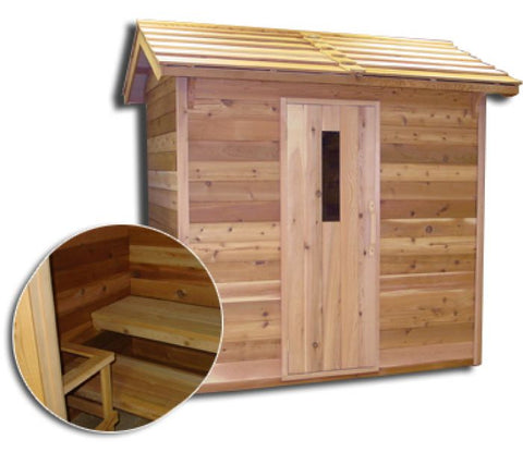 Image of Saunacore Outdoor Classic 6 Person Traditional Sauna (COD5X7)