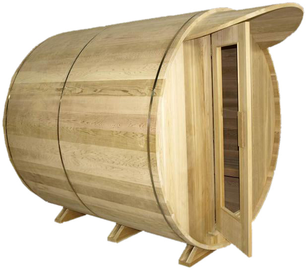Saunacore Outdoor Barrel Country 6 Person Traditional Sauna (BRL6X6)