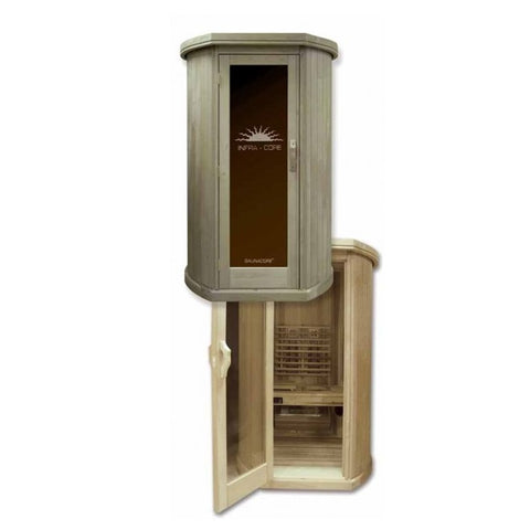 Image of Saunacore Infracore Max Series 1 Person Infrared Sauna (SDTX4-4X4 1650 watts 120v)