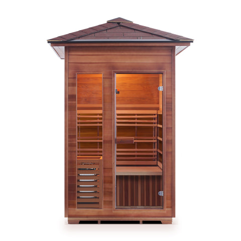 Image of Enlighten SunRise - 2 Person Outdoor/Indoor Traditional Sauna