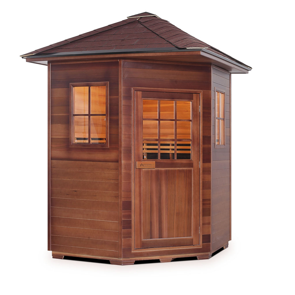 Enlighten SAPPHIRE - 4C Person Outdoor/Indoor Hybrid Sauna