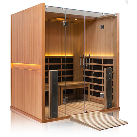Clerarlight Sanctuary Retreat- 4 Person ADA Compliant Full Spectrum Infrared Sauna - USA Health and Wellness-- Manzo Pelletier Holdings LLC