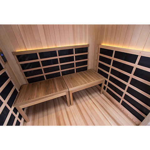 Image of Clerarlight Sanctuary Retreat- 4 Person ADA Compliant Full Spectrum Infrared Sauna - USA Health and Wellness-- Manzo Pelletier Holdings LLC