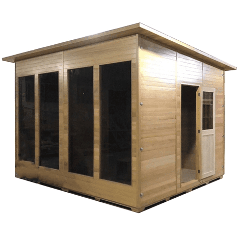 Image of Aleko Canadian Cedar Outdoor and Indoor Wet Dry Sauna - USA Health and Wellness-- Manzo Pelletier Holdings LLC