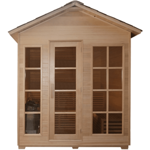 Image of Aleko Canadian Hemlock Outdoor and Indoor Wet Dry Sauna 4.5 kW ETL - USA Health and Wellness-- Manzo Pelletier Holdings LLC