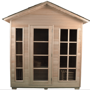 Aleko Canadian Hemlock Outdoor and Indoor Wet Dry Sauna 4.5 kW ETL 3-4 Person Traditional Sauna