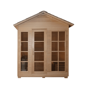 Aleko Canadian Hemlock Outdoor and Indoor Wet Dry Sauna 5+ Person Traditional Sauna
