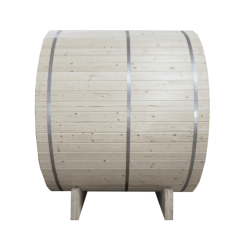 Image of Aleko White Pine Traditional Barrel Sauna- 4 person - USA Health and Wellness-- Manzo Pelletier Holdings LLC