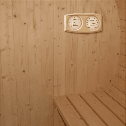 Aleko White Pine Traditional Barrel Sauna- 4 person - USA Health and Wellness-- Manzo Pelletier Holdings LLC