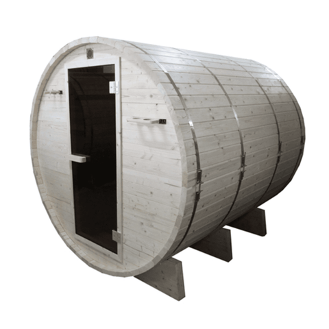 Aleko White Pine Traditional Barrel Sauna- 6 person - USA Health and Wellness-- Manzo Pelletier Holdings LLC