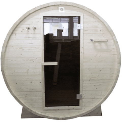Image of Aleko White Pine Traditional Barrel Sauna- 6 person - USA Health and Wellness-- Manzo Pelletier Holdings LLC