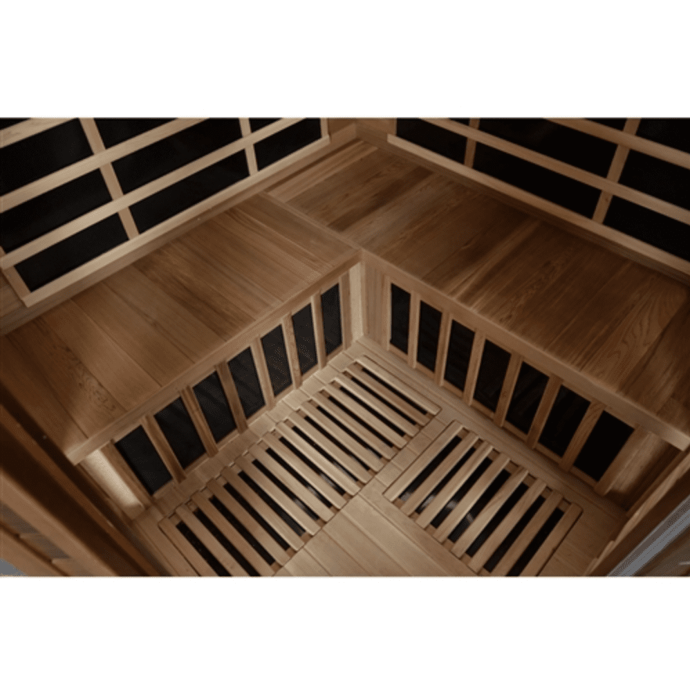 Canadian Red Cedar Indoor Dry Infrared Sauna - 8 Carbon Fiber Heaters - 3 to 4 Person - USA Health and Wellness-- Manzo Pelletier Holdings LLC