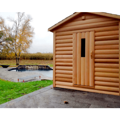 Image of Outdoor Log Style - For Saunacore Saunas
