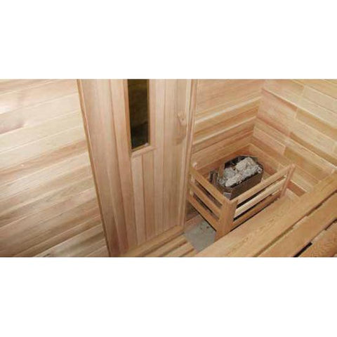 Image of Saunacore Traditional Bay Model Series 9 Person Traditional Sauna (B6X9)