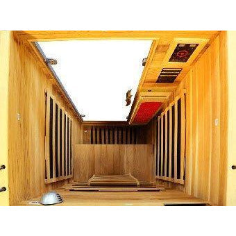 Image of Vital Health 1- Person Full Spectrum Elite Sauna (Canadian Red Cedar) - USA Health and Wellness-- Manzo Pelletier Holdings LLC