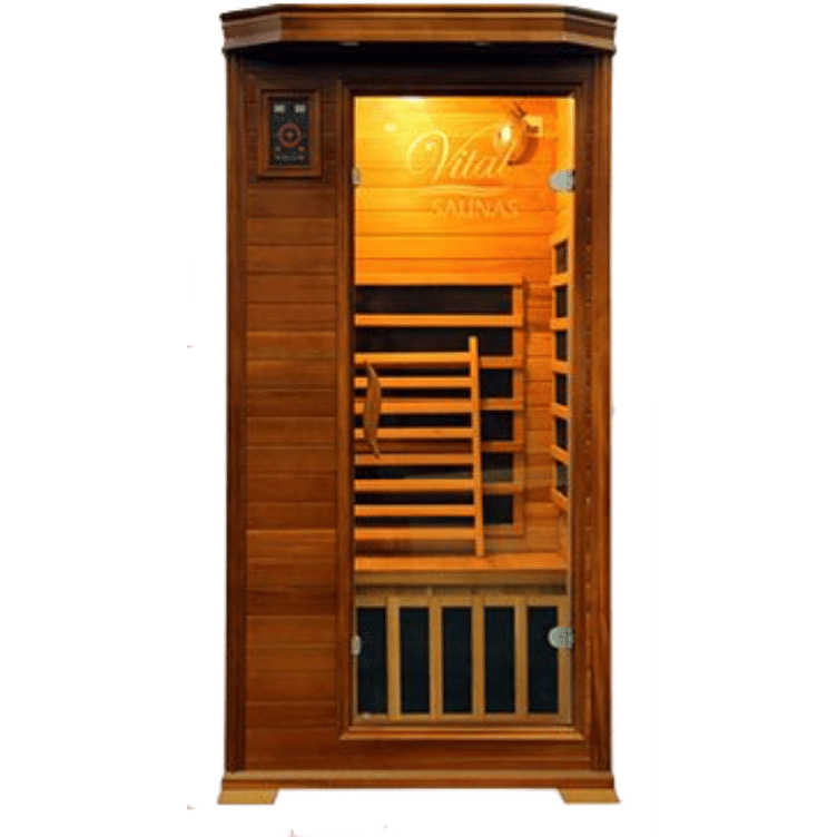 Vital Health 1- Person Full Spectrum Elite Sauna (Canadian Red Cedar) - USA Health and Wellness-- Manzo Pelletier Holdings LLC