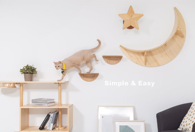 MYZOO-Round Lack (2pcs): Wall Mounted Cat Shelves