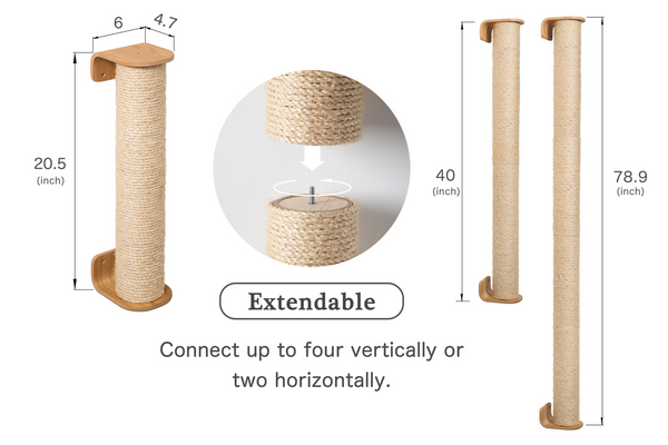 MYZOO Cylinder(Extension/replacement): Wall Mounted & Floor Standing Cat Scratcher