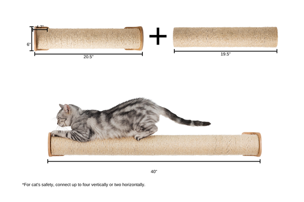 Cat scratcher made with wooden material protect felines well.