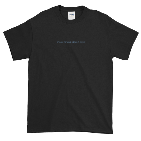 'I forgive the world because it has you' t-shirt