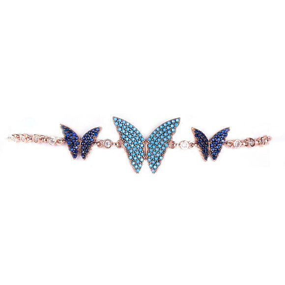Butterfly Bracelet Threesome Bracelet - Harrem Jewelry
