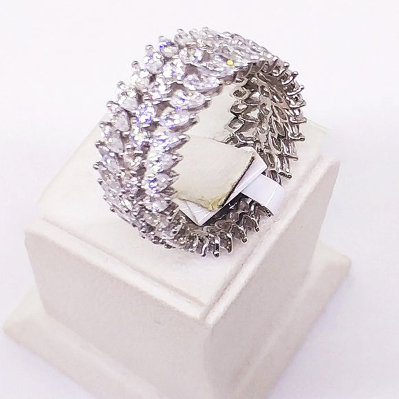 Triple Row Full Ring Ring - Harrem Jewelry