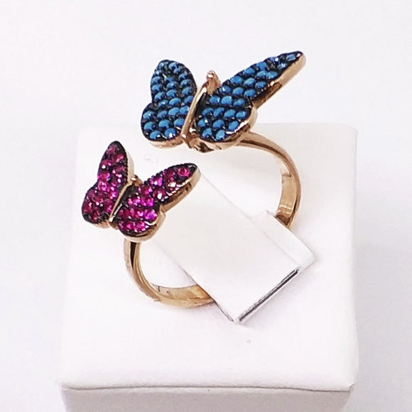 Double Butterfly Rings Ring - Harrem Jewelry