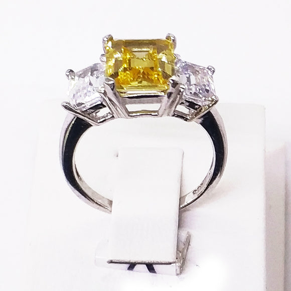 Yellow Trilogy Ring Ring - Harrem Jewelry