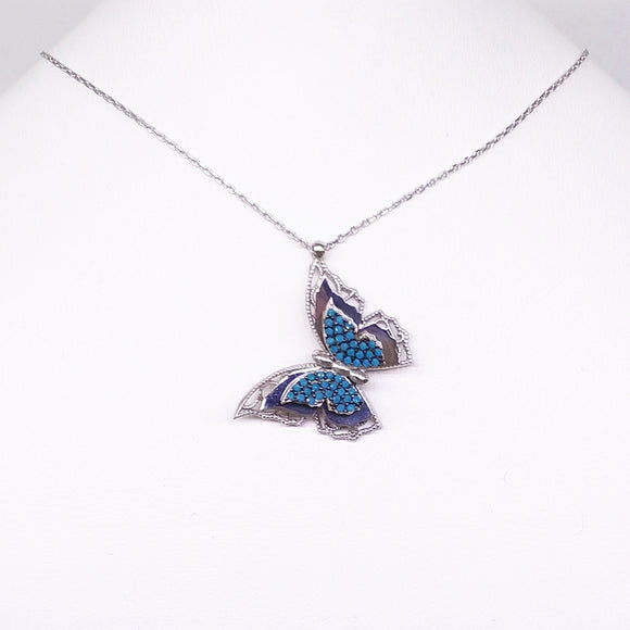 3D Butterfly Necklace Necklace - Harrem Jewelry