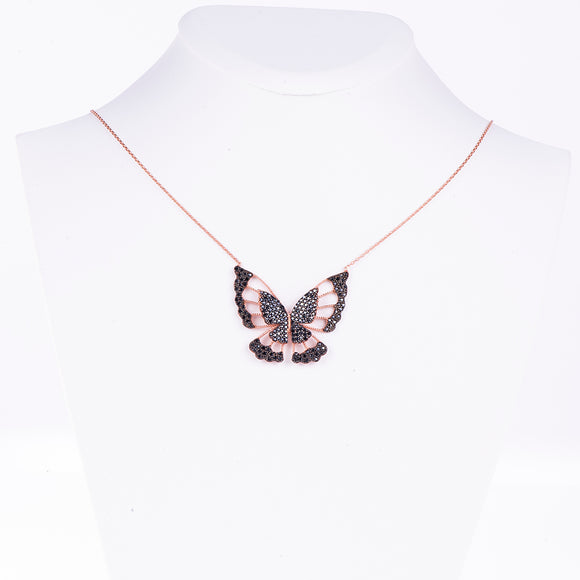 Transparent Butterfly Necklace Necklace - Harrem Jewelry