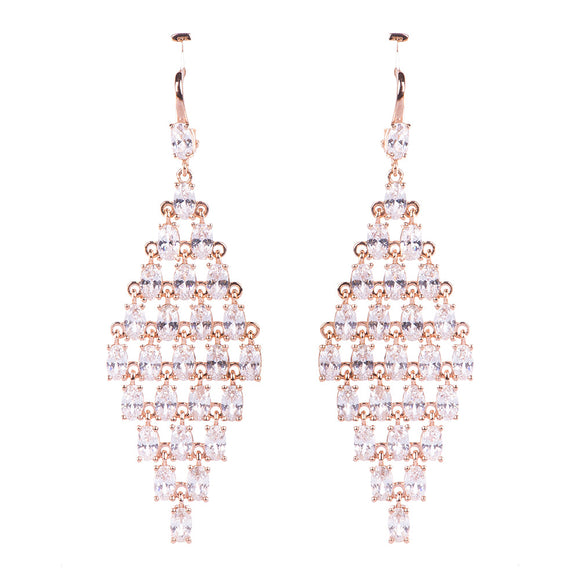 Diamond Pattern Earring Earring - Harrem Jewelry
