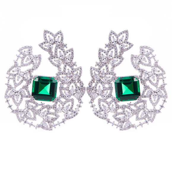 Emerald Earring Earring - Harrem Jewelry