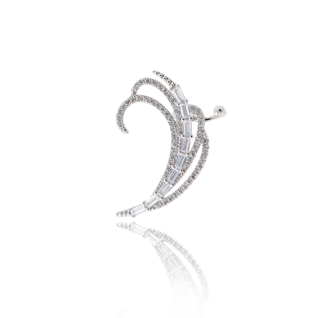 'ANNA' Baguette-Cut Diamond Ear Cuff | EARRINGS | BECKY THE LABEL - luxury accessories & jewelry brand