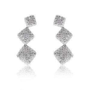 'LAUREN' Fully Studded Squares DiamondB Pavé Ear Cuff | EARRINGS | BECKY THE LABEL - luxury accessories & jewelry brand