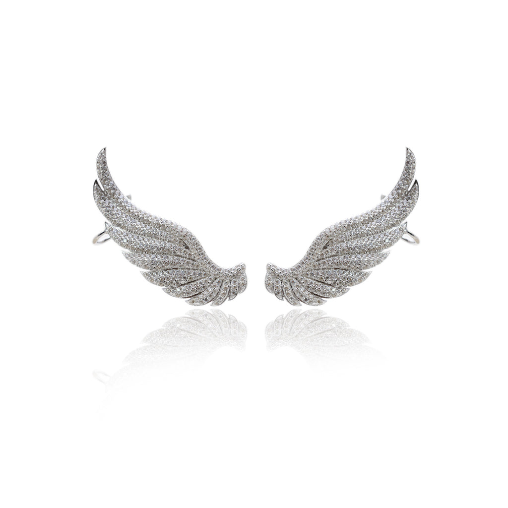 'PENELOPE' Micro DiamondB Wings Fully Studded Ear Cuff | EARRINGS | BECKY JEWELRY