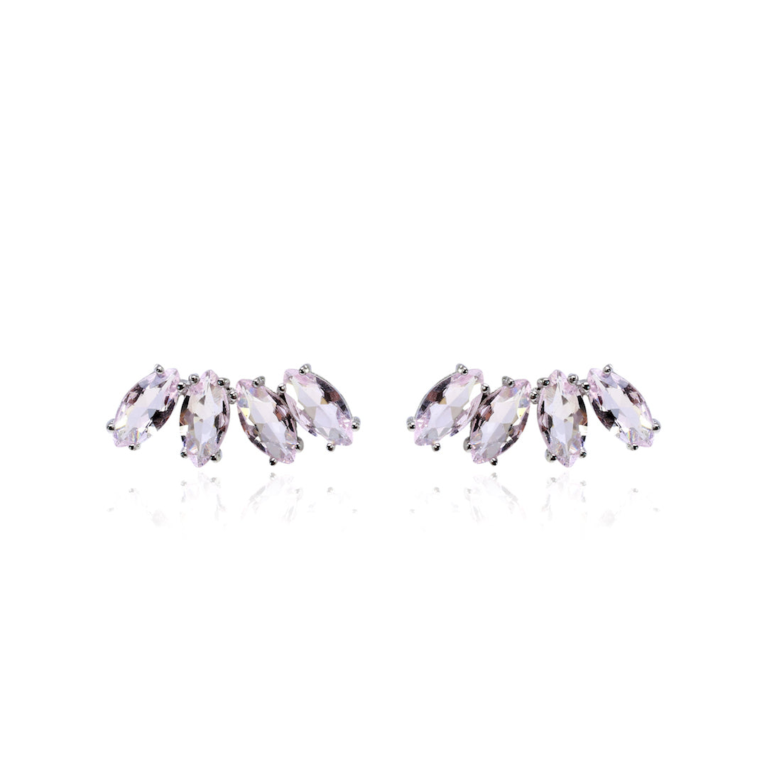 'BLAIR' Marquise-Cut Pink Quartz Ear Cuff | EARRINGS | BECKY JEWELRY
