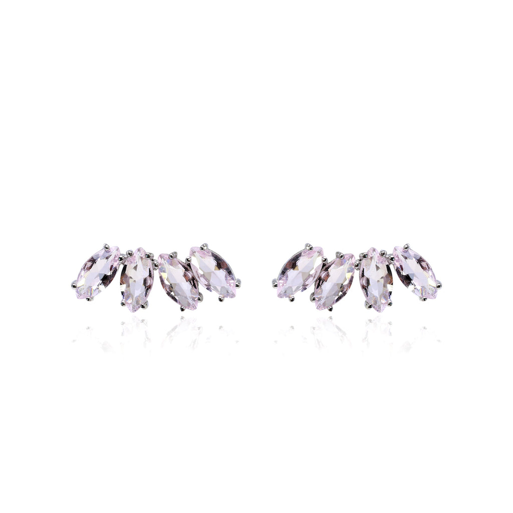 'BLAIR' Marquise-Cut Pink Quartz Ear Cuff | EARRINGS | BECKY THE LABEL - luxury accessories & jewelry brand