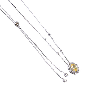 'INACIA' Oval-Cut Citrine & DiamondB Necklace | NECKLACES | BECKY THE LABEL - luxury accessories & jewelry brand