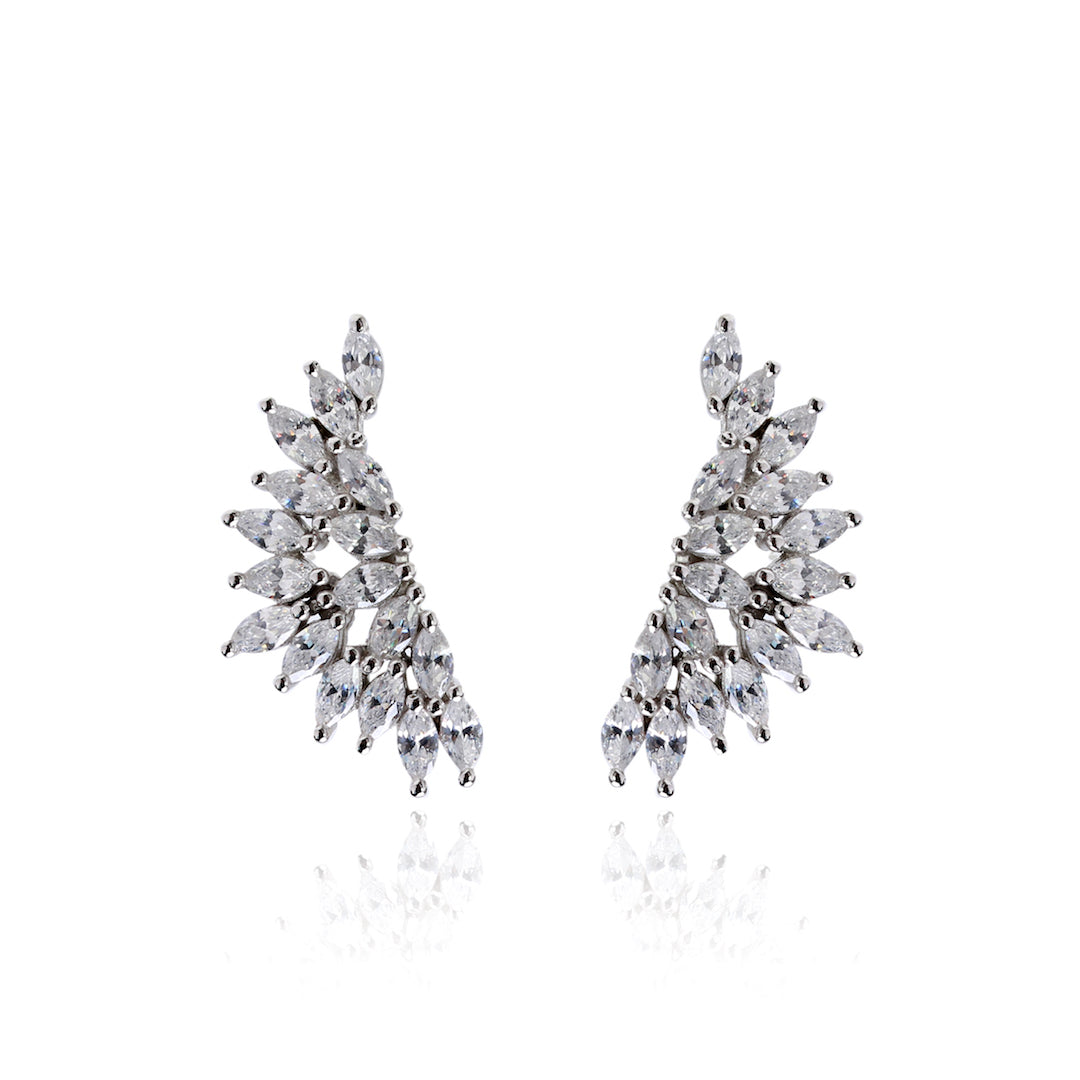 'VICTORIA' Marquise-Cut DiamondB Earrings | EARRINGS | BECKY THE LABEL - luxury accessories & jewelry brand