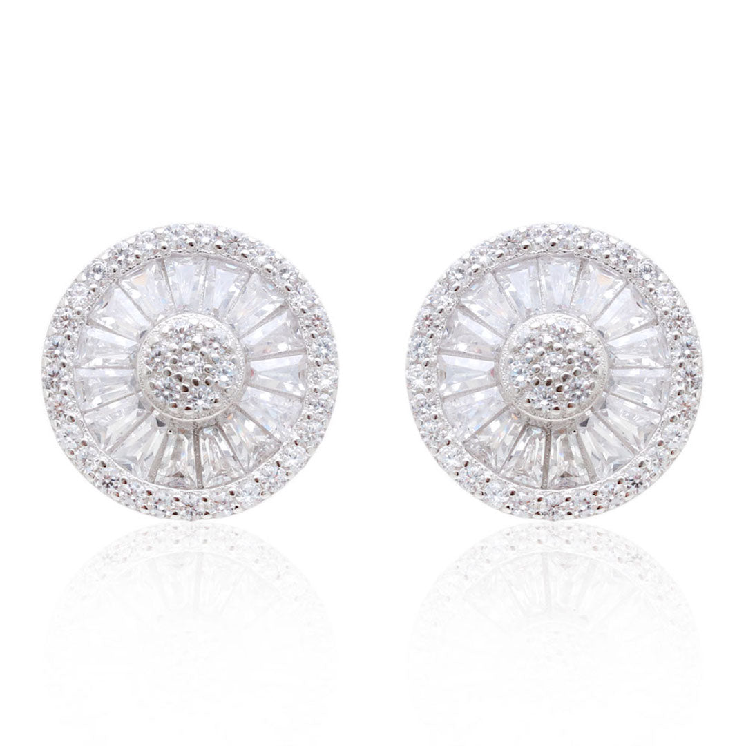 'PARIS' Pizza DiamondB Pavé Earrings | EARRINGS | BECKY JEWELRY