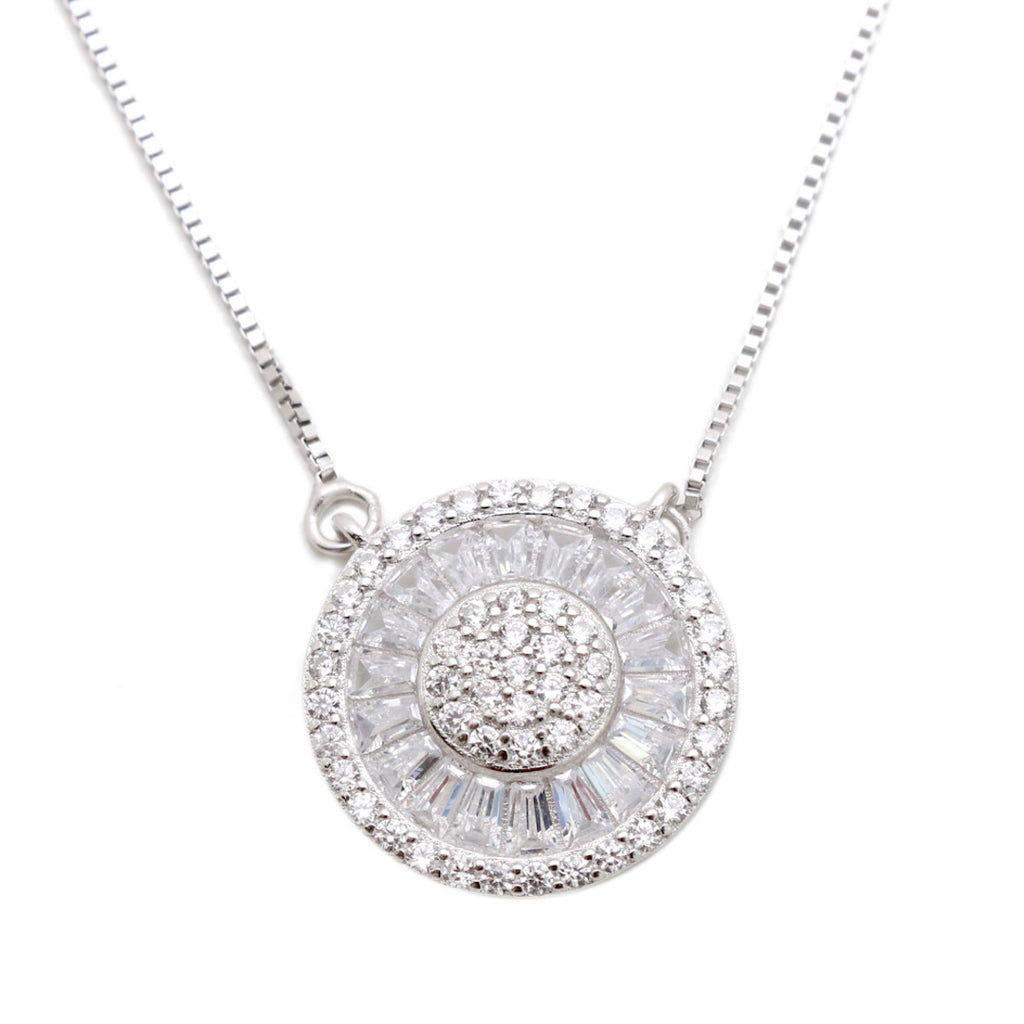 'PARIS' Pizza DiamondB Pavé Necklace NECKLACES BECKY JEWELRY