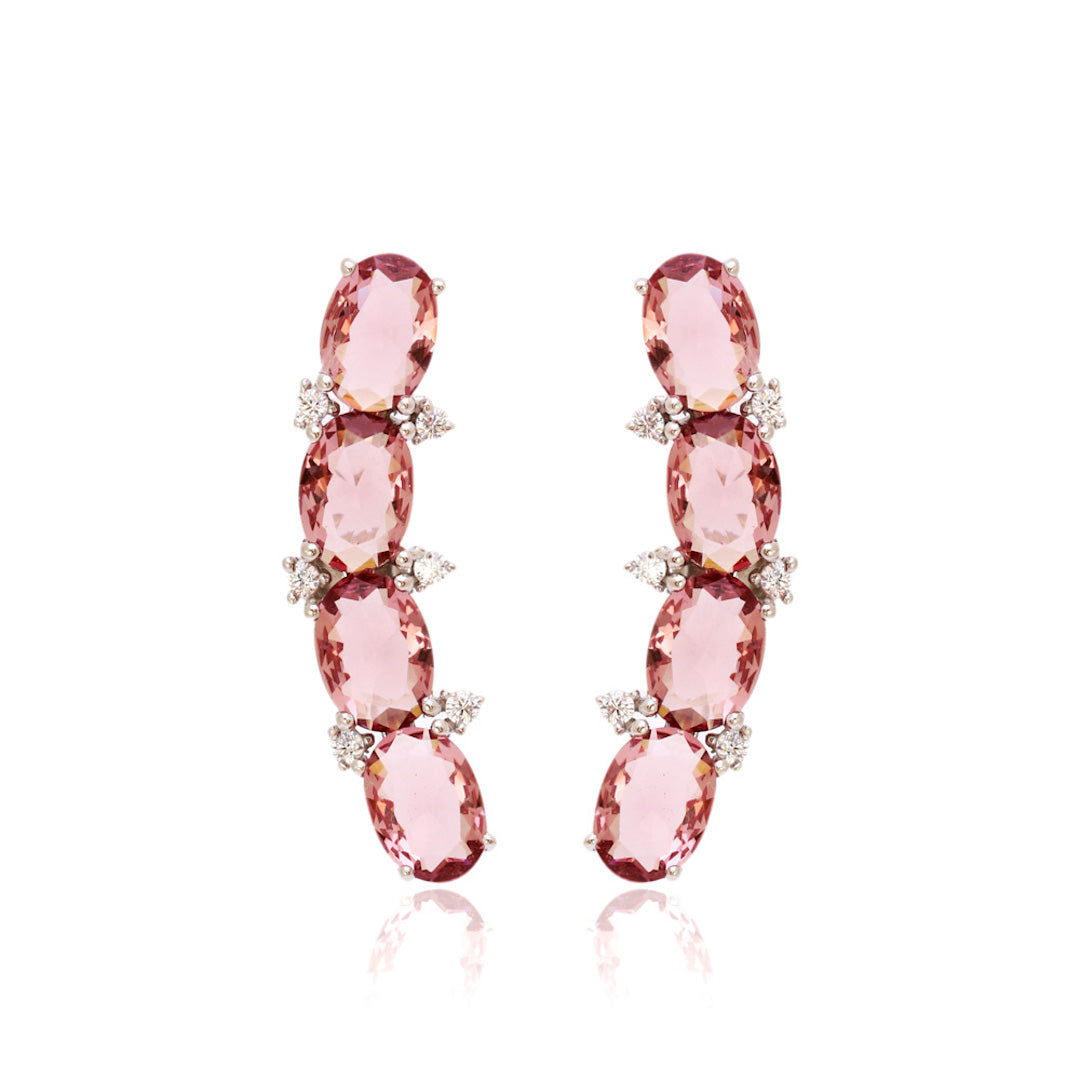'CINDY' Oval-Cut Morganite Earrings | EARRINGS | BECKY JEWELRY