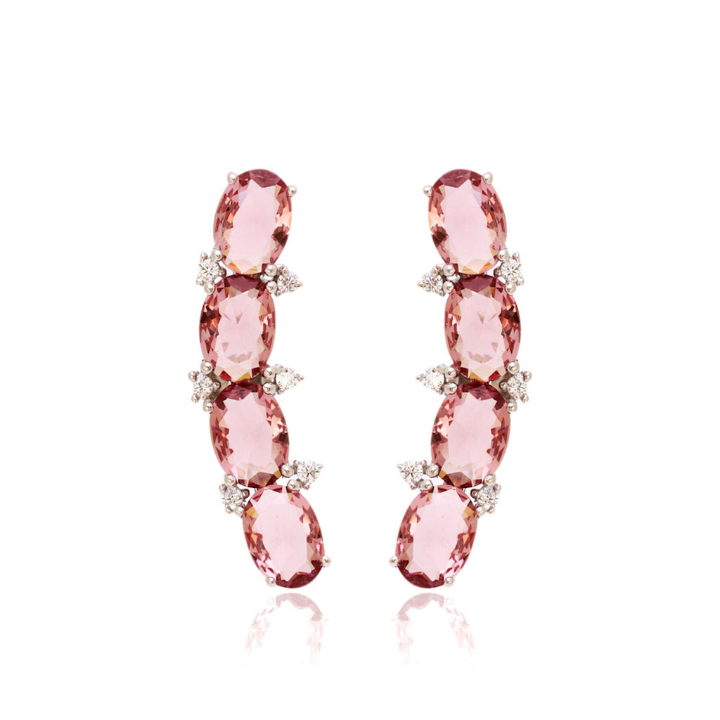 'CINDY' Oval-Cut Morganite Earrings | EARRINGS | BECKY THE LABEL - luxury accessories & jewelry brand