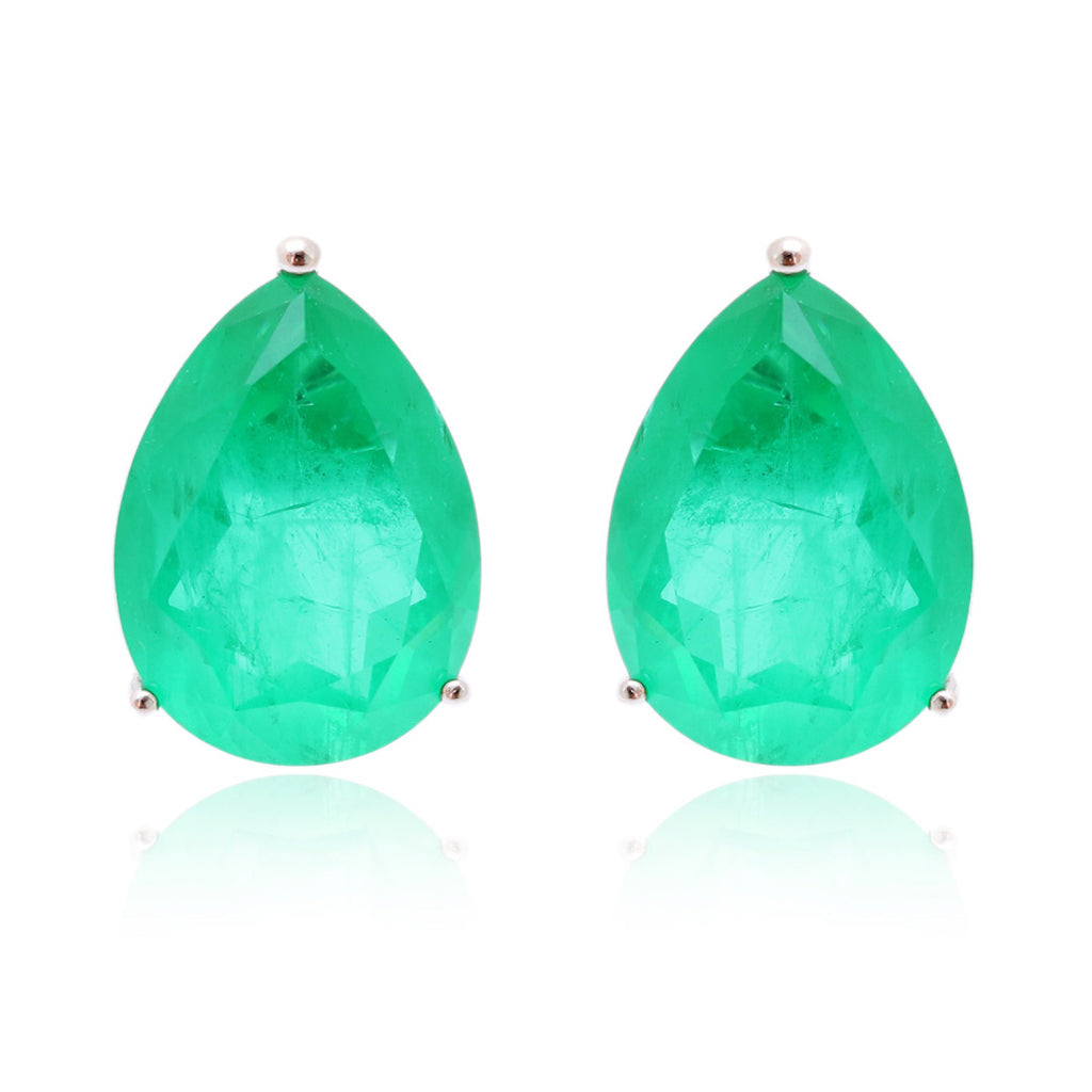 'HARPER' Pear-Cut Fusion Emerald Earrings EARRINGS BECKY JEWELRY