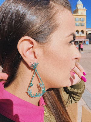 'BORBOLETA' Emerald Micro Pavé & Crystals Statement Earrings | EARRINGS | BECKY THE LABEL - luxury accessories & jewelry brand