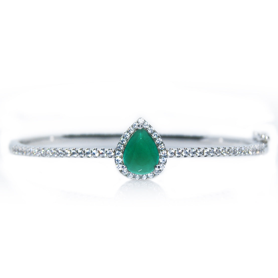 'ELIZA' Pear-Cut Emerald & Round-Cut DiamondB Bracelet | BRACELETS | BECKY THE LABEL - luxury accessories & jewelry brand